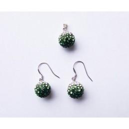 Zelená souprava šperků Swarovski komponenty