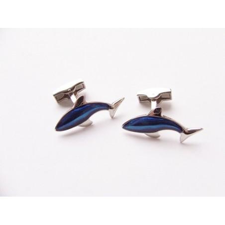 Manžetové knoflíčky modrý delfín
