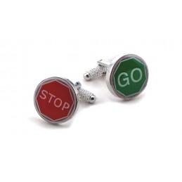 Manžetové knoflíčky  stop and go