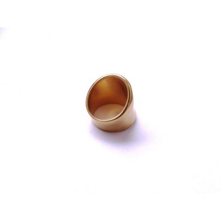 Masivní mosazný prsten zlaté barvy