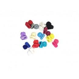 Manžetové gombíky textilné uzlíky do farby