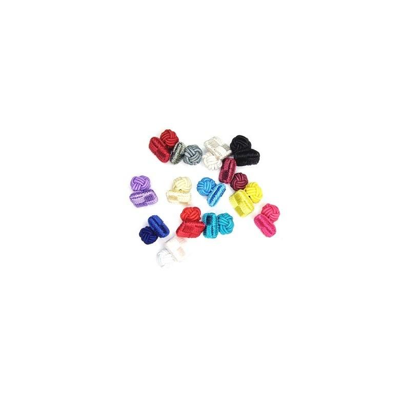 Manžetové knoflíčky textilní uzlíky do barvy