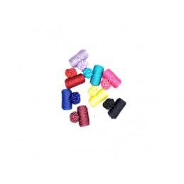 Manžetové gombíky textilné rôznofarebné lacné uzlík valček
