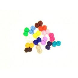 Manžetové gombíky textilné uzlíky lacné farebné