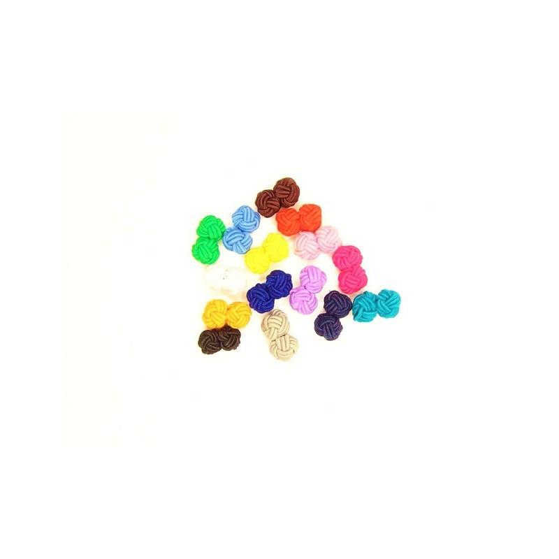 Manžetové knoflíčky textilní uzlíky levné barevné