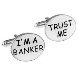Spinki mankietowe dla bankowca