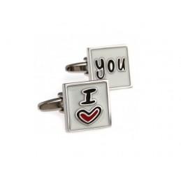 Manžetové knoflíčky Miluji Tě - I love you