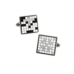 Manžetové knoflíčky  křížovka - sudoku