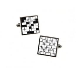 Spinki mankietowe Sudoku i Scrabble