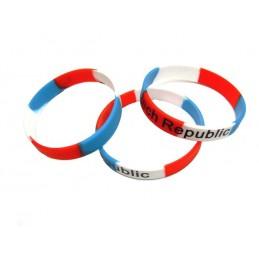 Silikon-Armbänder mit der Aufschrift Czech Republic