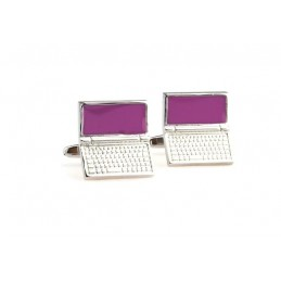 Manžetové knoflíčky laptop notebook.