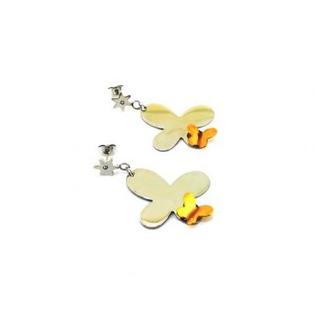 Ohrringe aus Edelstahl Schmetterling