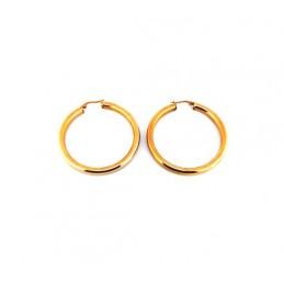 Náušnice veľké zlaté kruhy