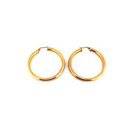 Náušnice velké zlaté kruhy