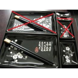 Czarny zestaw do sushi