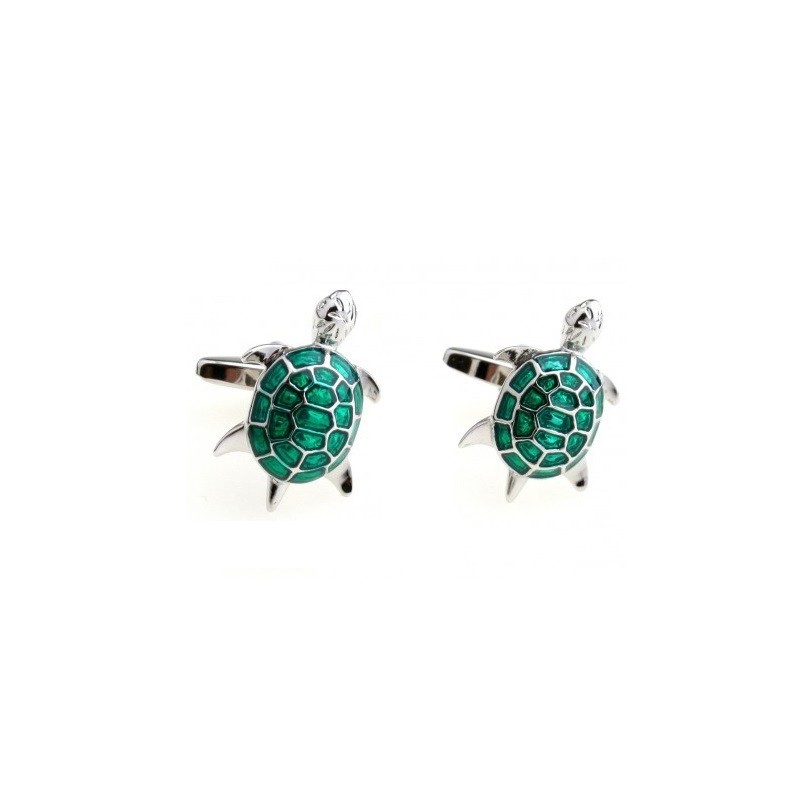 Spinki do mankietów żółw