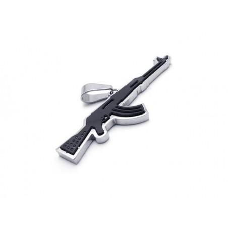 Přívěsek Kalašnikov AK 47 z nerezové oceli