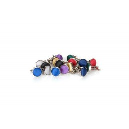 Manžetové knoflíčky round, barevné, do barvy ke kravatě