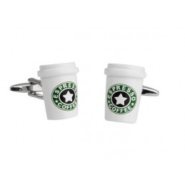 Spinki mankietowe kubek kawy
