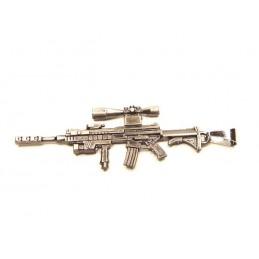 AR15 Gewehr Anhänger aus Edelstahl