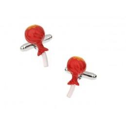 Manschettenknöpfe roter Lutscher, Lollipop