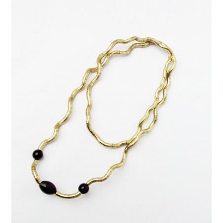 Halsband - Goldene Schlange