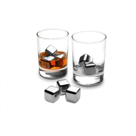 Kostki lodowe - kamienie lodowe - stalowe kostki do alkoholu