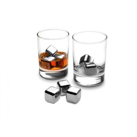 Ledové kostky ocelové, chladící / mrazící, kameny do pití, drinků, nápojů, whisky, alkoholu