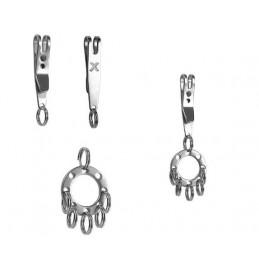 Mini spona, klip na opasek či kapsu s kroužkem na klíče