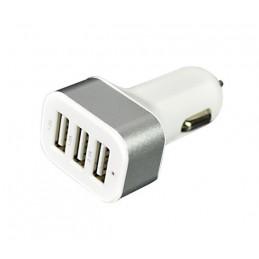 Huao CC-301 5,1 KFZ Dual USB Auto Ladegerät weiß 3x 3 fach Adapter 5.1A Zigarettenanzünder 12V