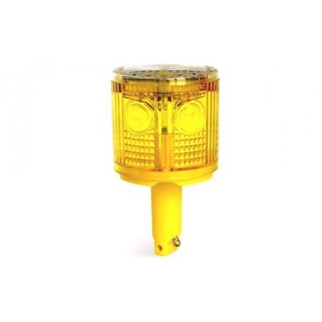 Maják solární, výstražné, varovné světlo