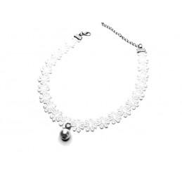 Krajková páska na krk, náhrdelník