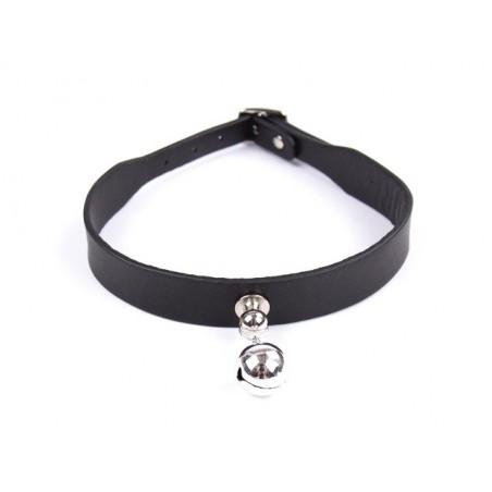 BDSM Kunstleder Halsband mit einer Glocke