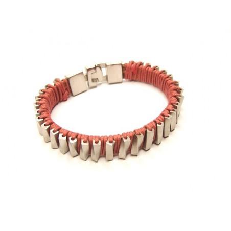 Armband Edelstahl und Leder