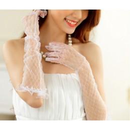 Dlouhé krajkové jemné rukavičky, rukavice
