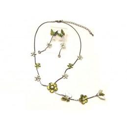 Biżuteria zestaw żółte kwiaty