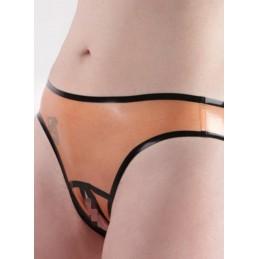 Priehľadné latexové nohavičky s otvorom