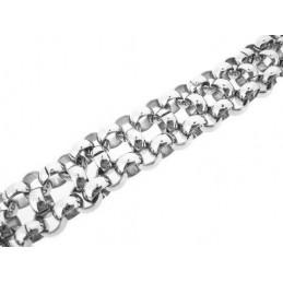 Náramek z chirurgické oceli široký