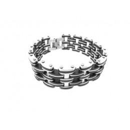 Armband für Männer Edelstahl und Silikon