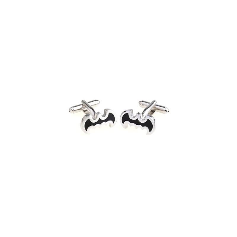 Manžetové knoflíčky s netopýrem černé