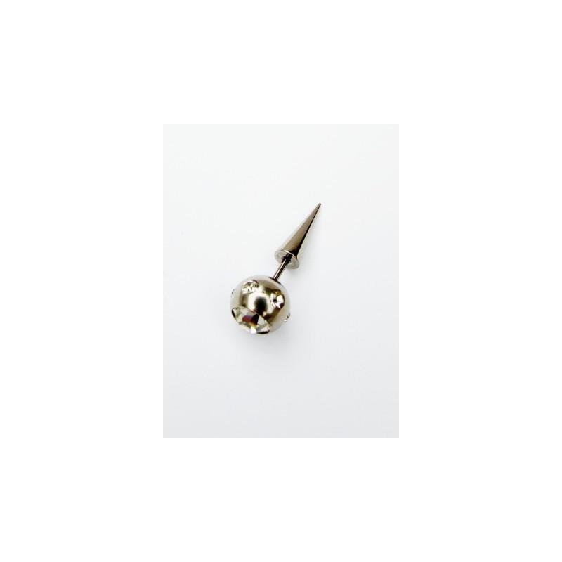 Piercing ocel hrot se zirkony