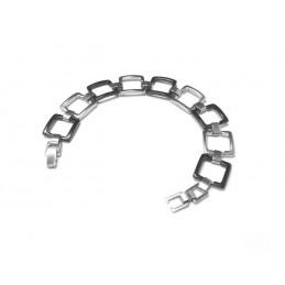 Náramek dámský elegantní design čtverec nerezová ocel
