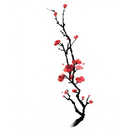 Einmal Körper Tattoo Japanische Kirschblüte Sakura