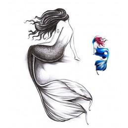 Falošné tetovanie farebné morská panna