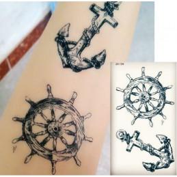 Nalepovacie tetovanie námornícke kormidlo, kotva