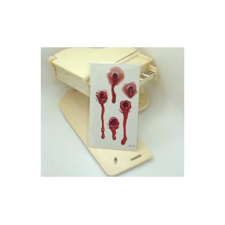 Temporary Einmal Horror Tattoo Blut Einschußloch