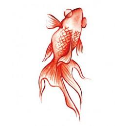 Tatuaj temporar, adeziv, cu motiv de pește roșie