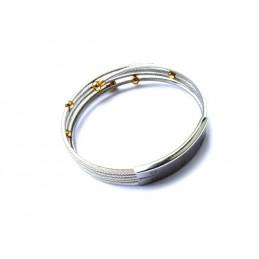 Náramek dámský ocelový designové struny