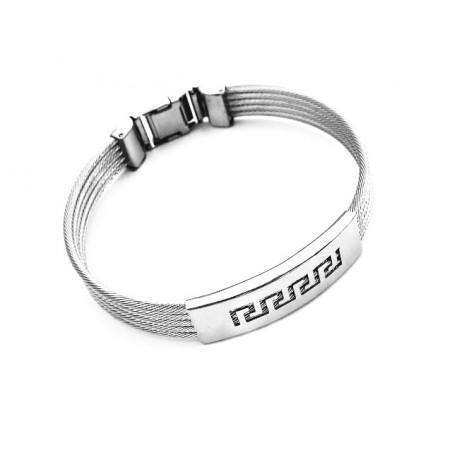 Náramek pánský šperk na ruku ocelové spletené strunky
