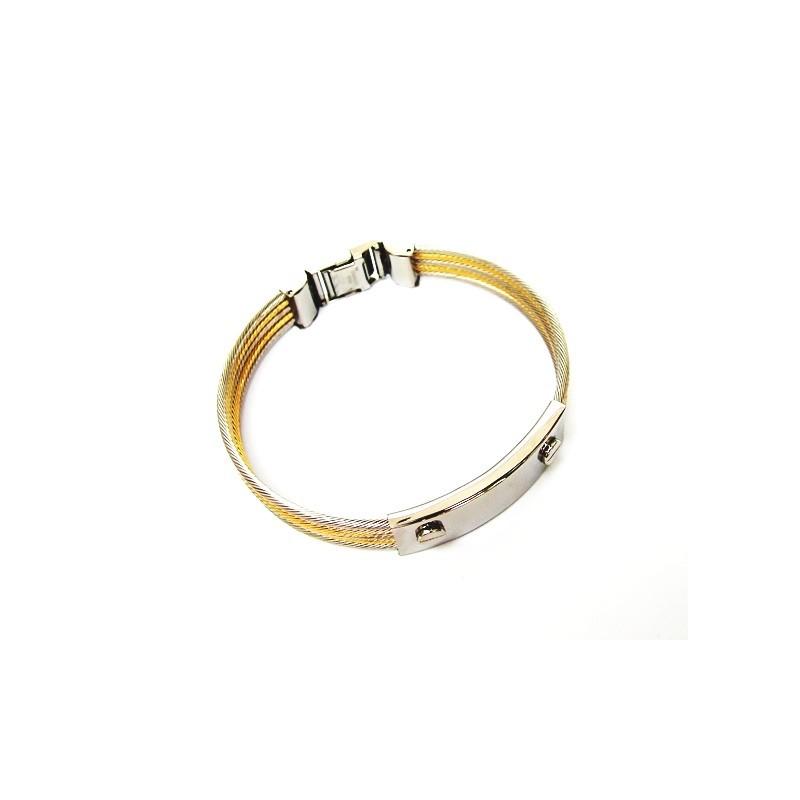 Šperk na ruku z ocelových strunek